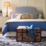 Tête de lit courbée douce avec des losanges