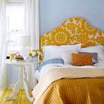 Tête de lit multicolore douce