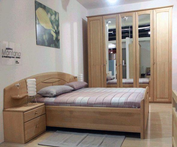 Chambre à coucher en hêtre