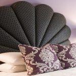 Tête de lit souple en forme de coquille inhabituelle