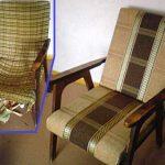 Nouvelle option pour le rembourrage de l'ancienne chaise