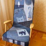 Nouveau fauteuil en jeans avec vos propres mains