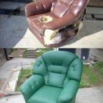 Nous mettons à jour l'ancienne chaise usée de nos propres mains