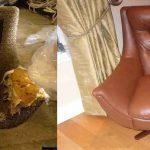 Rembourrage des chaises de forme inhabituelle