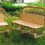 Chaise en osier et chaise