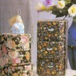 Coffres à fleurs en carton semi-circulaire