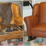 Réparer une vieille chaise berçante