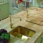 Cuisine faite maison en bois vert
