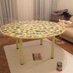 Photo de table en contreplaqué fait maison
