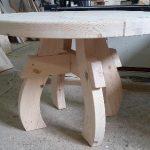 Table faite maison à partir d'un tableau sans traitement supplémentaire