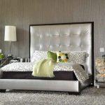 Tête de lit douce en argent avec bordure de carrosserie