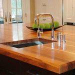 Dessus de table chic en bois naturel