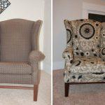Vieille chaise en nouvelle tapisserie