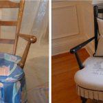 Vieux, mais fort et chaise préférée d'une nouvelle manière
