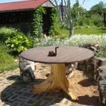 Table et tabourets de la ferraille au pays