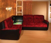 Canapé d'angle rouge