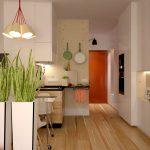 Cuisine confortable avec des casiers hauts et spacieux