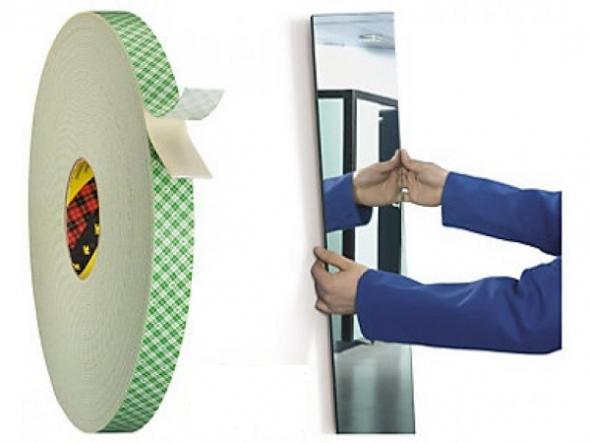 Ruban adhésif de construction double face pour miroir
