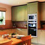 Armoires de cuisine hautes en vert