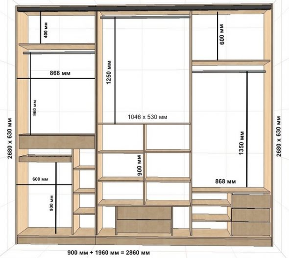 Calculer les dimensions de l'armoire