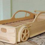 Wagon lit en bois pour adolescent
