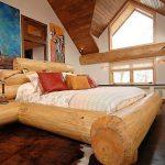 Lit en bois massif de style écologique