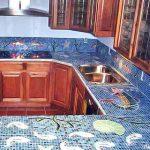 Mosaïque pour les comptoirs de cuisine
