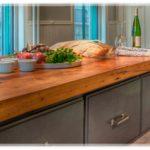 Plateau en bois fiable pour îlot de cuisine