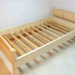 Lit en bois simple faites-le vous-même