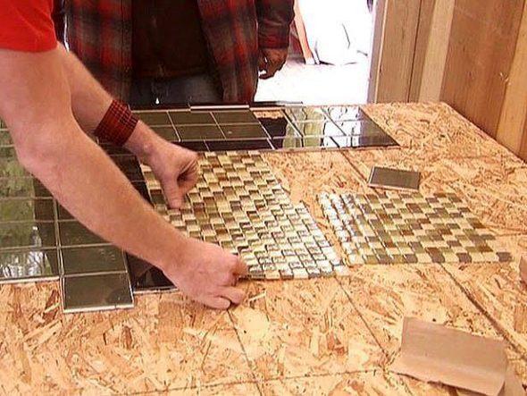 Carrelage combiné avec mosaïque