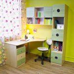 Un ensemble de meubles pour l'étudiant - un bureau et une étagère