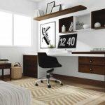 Ensemble de mobilier contrastant - étagère et bureau
