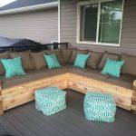 Nuances turquoises pour un canapé fait maison