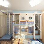 Un lit superposé avec des barres horizontales sera utile pour les jeunes athlètes