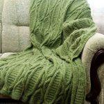 Beau plaid, tricot, vert