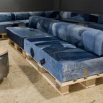 Sellerie en jean pour canapé fait maison