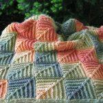 Plaid de carrés individuels motifs d'automne