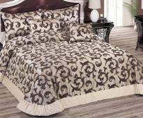 Couvre-lit et oreillers avec un motif - boucles