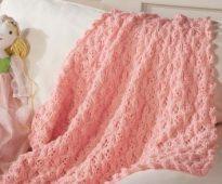 Couverture bébé rose