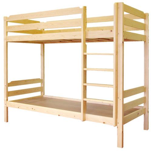 Lits superposés en bois confortables
