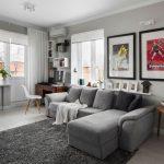 Canapé d'angle gris fait par soi-même