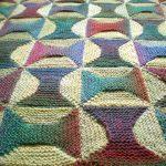 Bobines tricotées à motifs plaid
