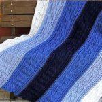 Tricot plaid à rayures de motifs colorés