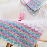 Zigzags ajourés au crochet pour enfants