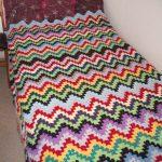 Zigzag à carreaux simple pour lit simple