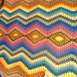 Couverture tricotée à la main chic