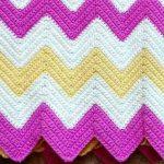 Plaid tricolore Zigzag fait main