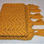 Plaid Août tricoté pour pique-nique
