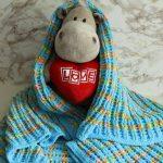 Plaid en tricot pour enfants Rainbow sky