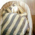 Belle couverture rayée de pôle souple pour un enfant